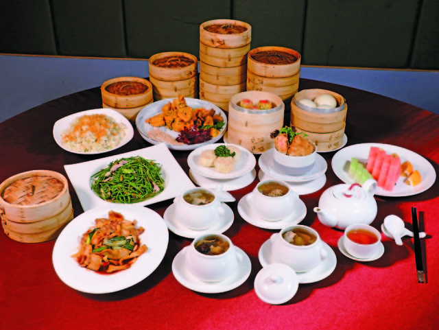 福粵樓「一茶一食一盅一籠」4-10人桌菜3,888+10%元起。(業者提供)