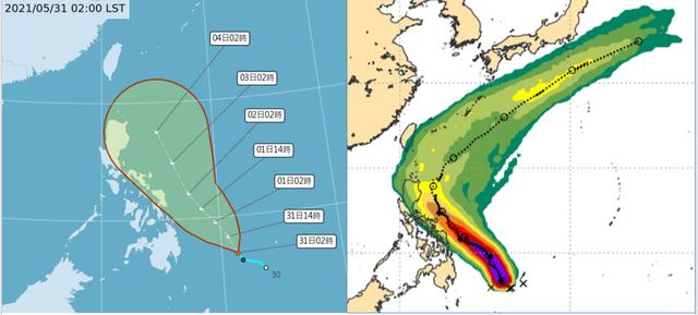颱風「彩雲」今將生成!高屏防瞬間大雨雷擊強風 | (翻攝自吳德榮專欄「三立準氣象· 老大洩天機」)。