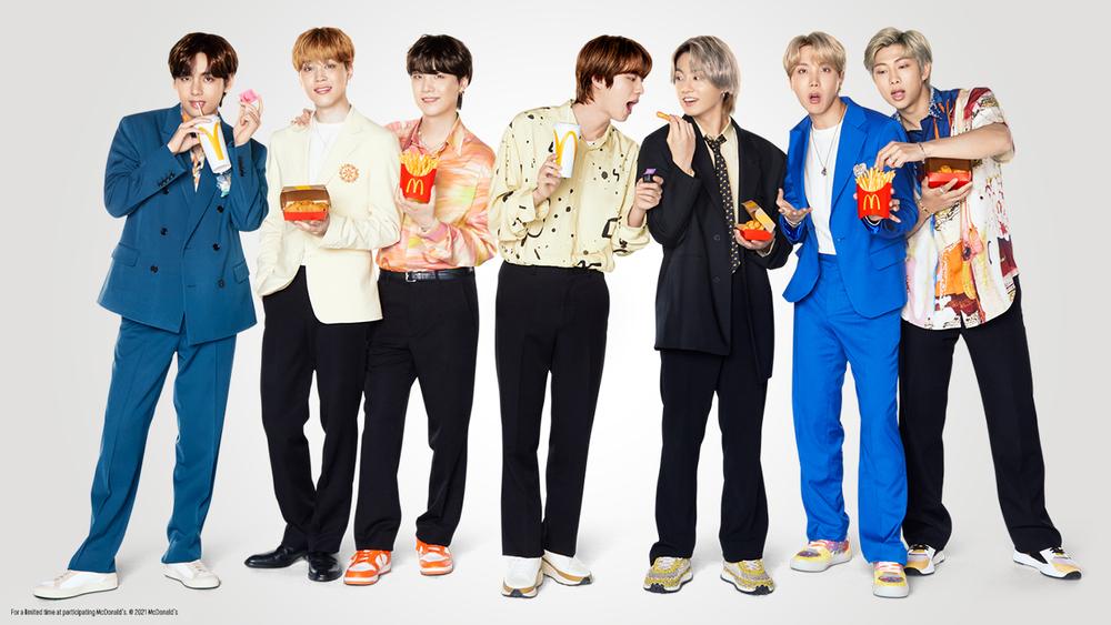 麥當勞與BTS聯名推出限量餐點。(業者提供)