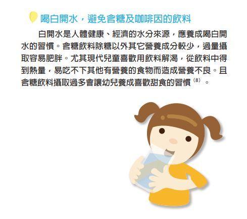 (翻攝自衛福部國健署幼兒期營養手冊)