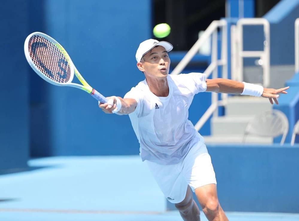 網球一哥盧彥勳25日出戰奧運首戰,也是盧彥勳在網壇的最後一戰。(體育署提供)