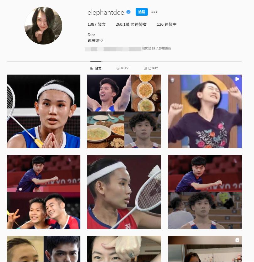 小S在東奧期間常PO國手照片替台灣選手加油。(翻攝自小SIG)