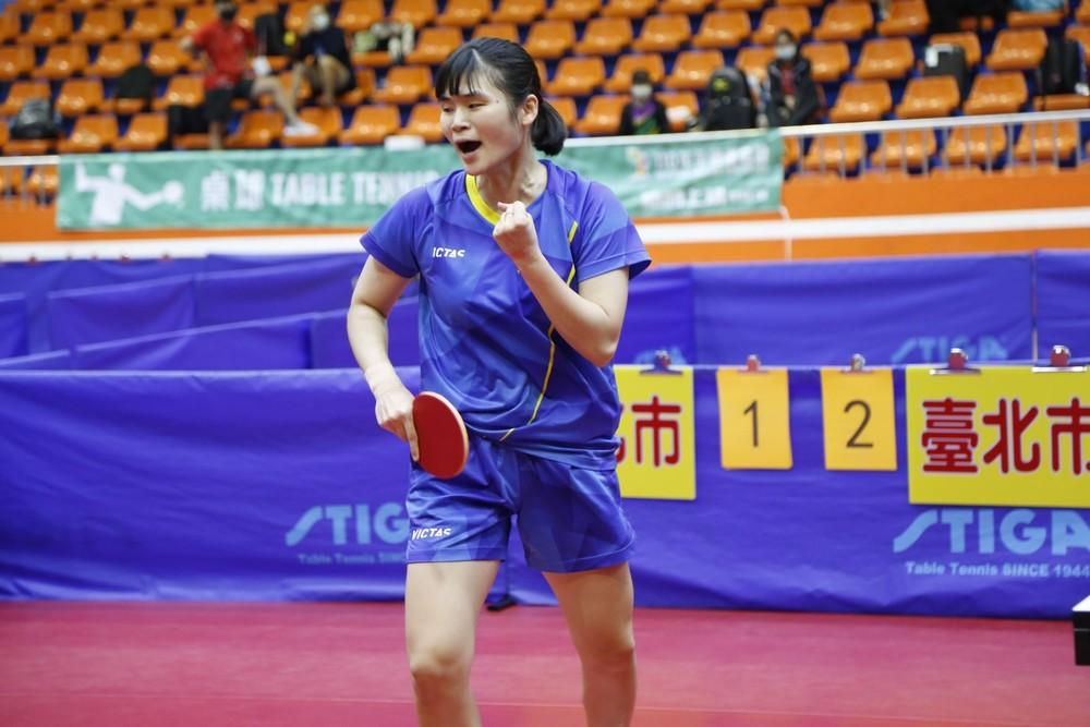 臺北市選手李昱諄此屆全運會女團表現亮眼。攝影 / 孫紀涵