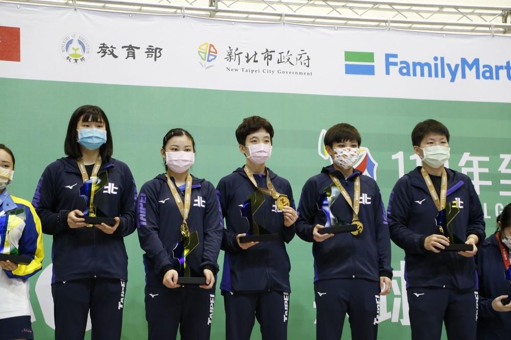 臺北市力抱走本屆全運會金牌。攝影 / 孫紀涵